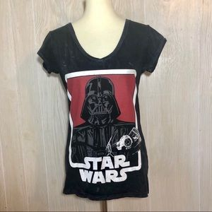 Star Wars Darth Vader Black Women's Tee Large
